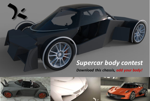 Group Supercar Body Challenge Grabcad