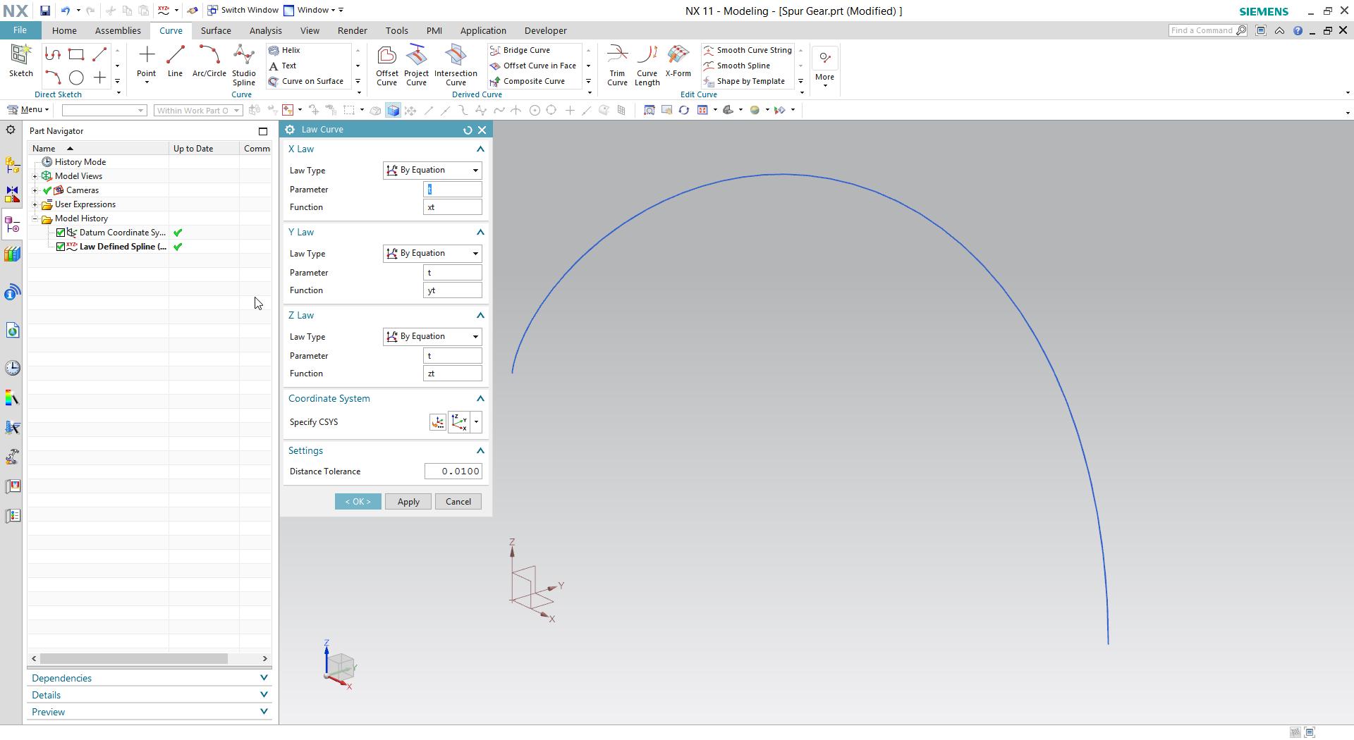 How To Create Spur Gear In Siemens Nx Grabcad Tutorials