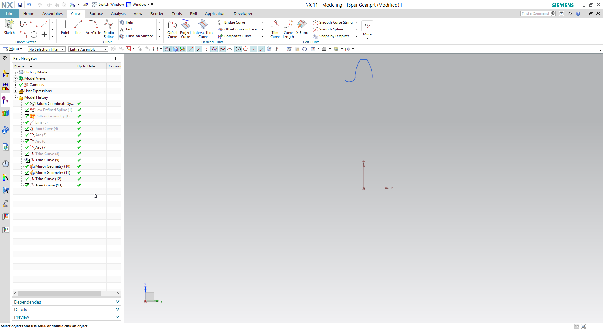 How to create spur gear in Siemens NX? | GrabCAD Tutorials