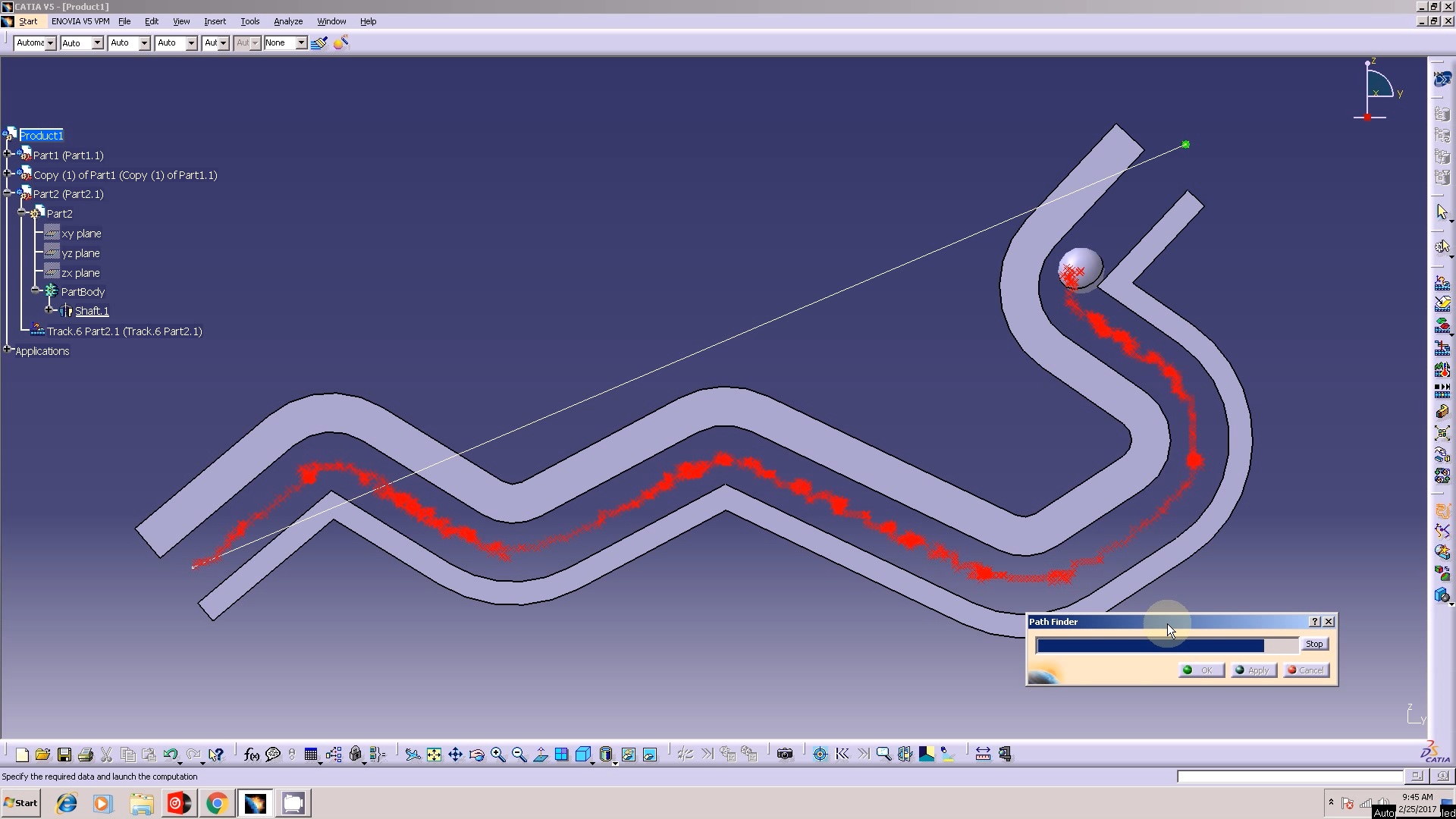 CATIA V5 DMU FITTING PATH FIND...