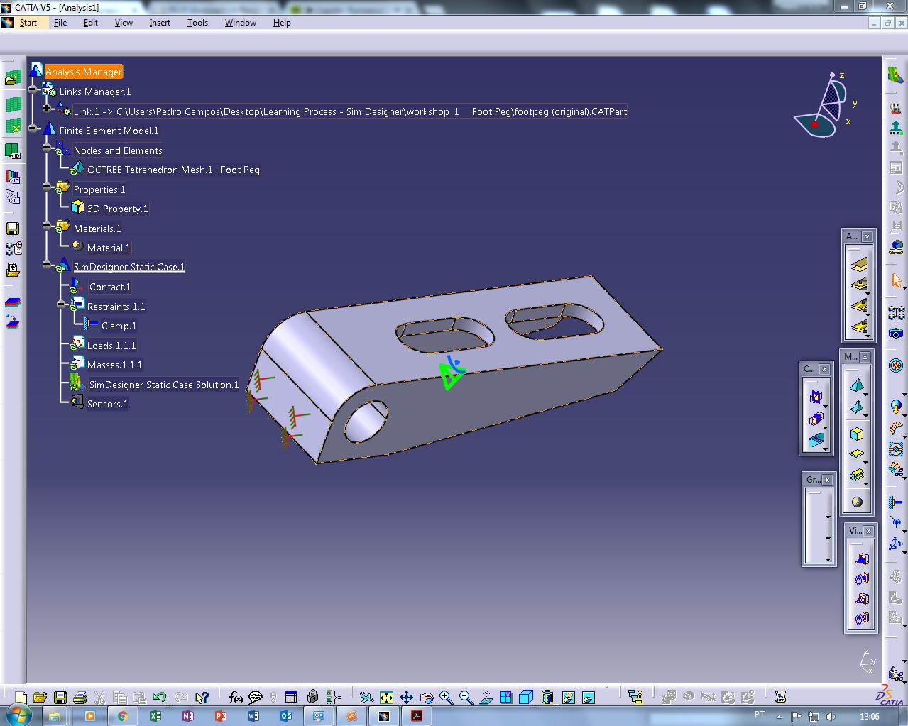 How to do a Basic Linear Finite Element Analysis in CATIA V5