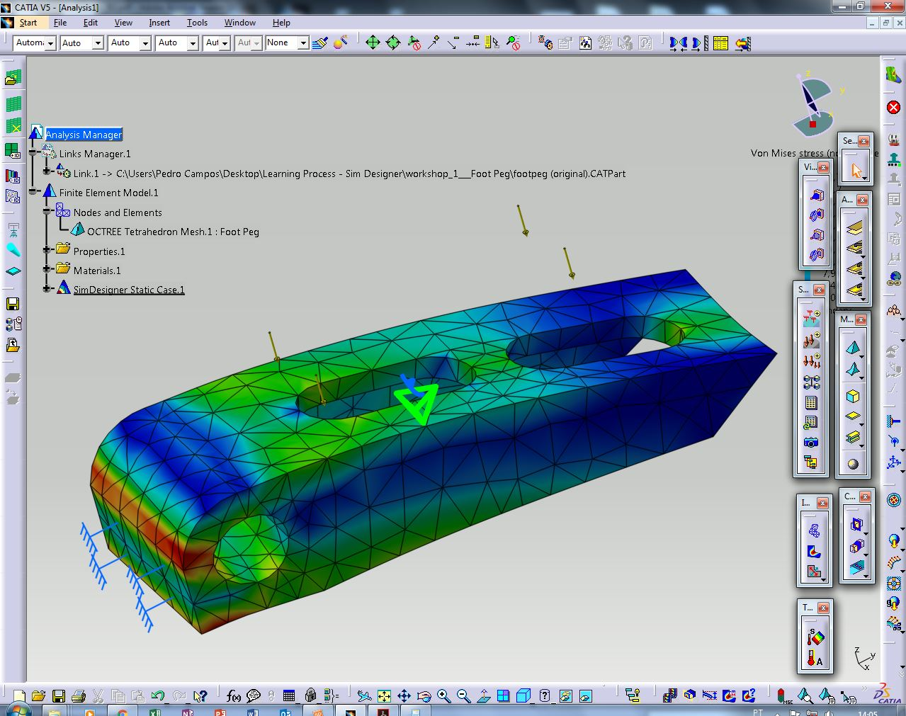 How to do a basic linear finite element analysis in catia for Lineare fem