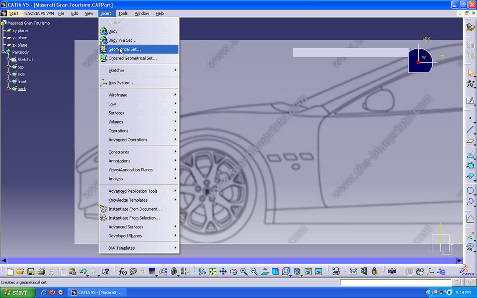 tutorial car design in catia v5 part2 grabcad. Black Bedroom Furniture Sets. Home Design Ideas