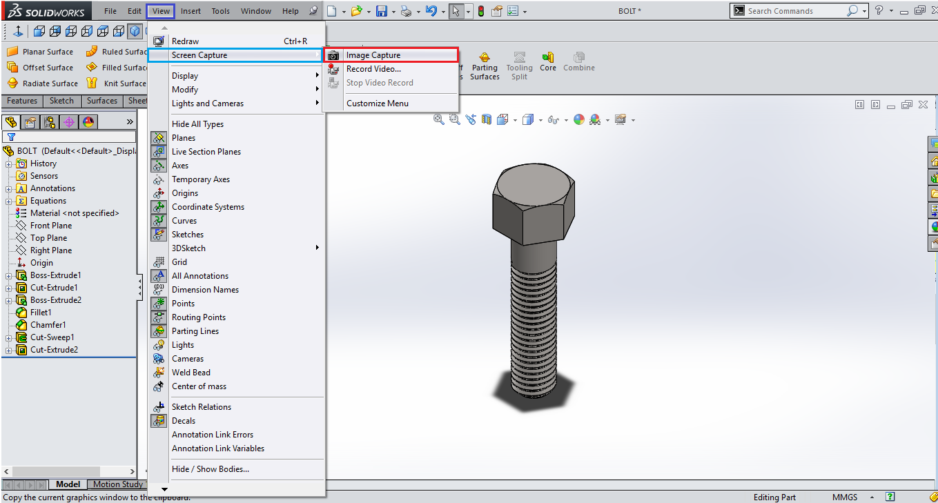 How to create screenshots of your work in solidworks 1 for Design table not working solidworks