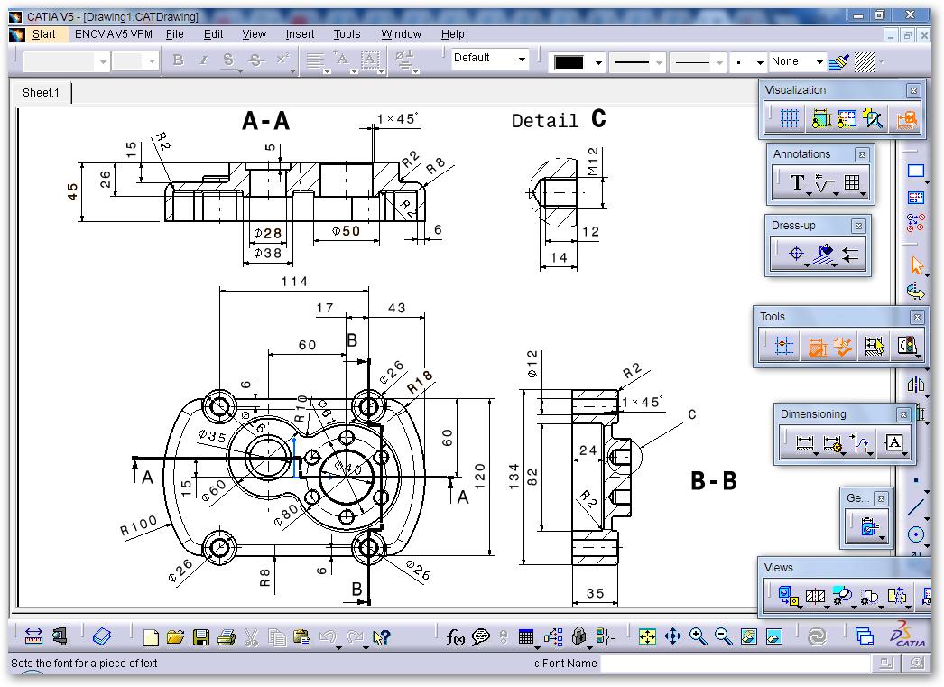 CATIA V5 CoverPump - Exercise - 2D into 3D Modeling