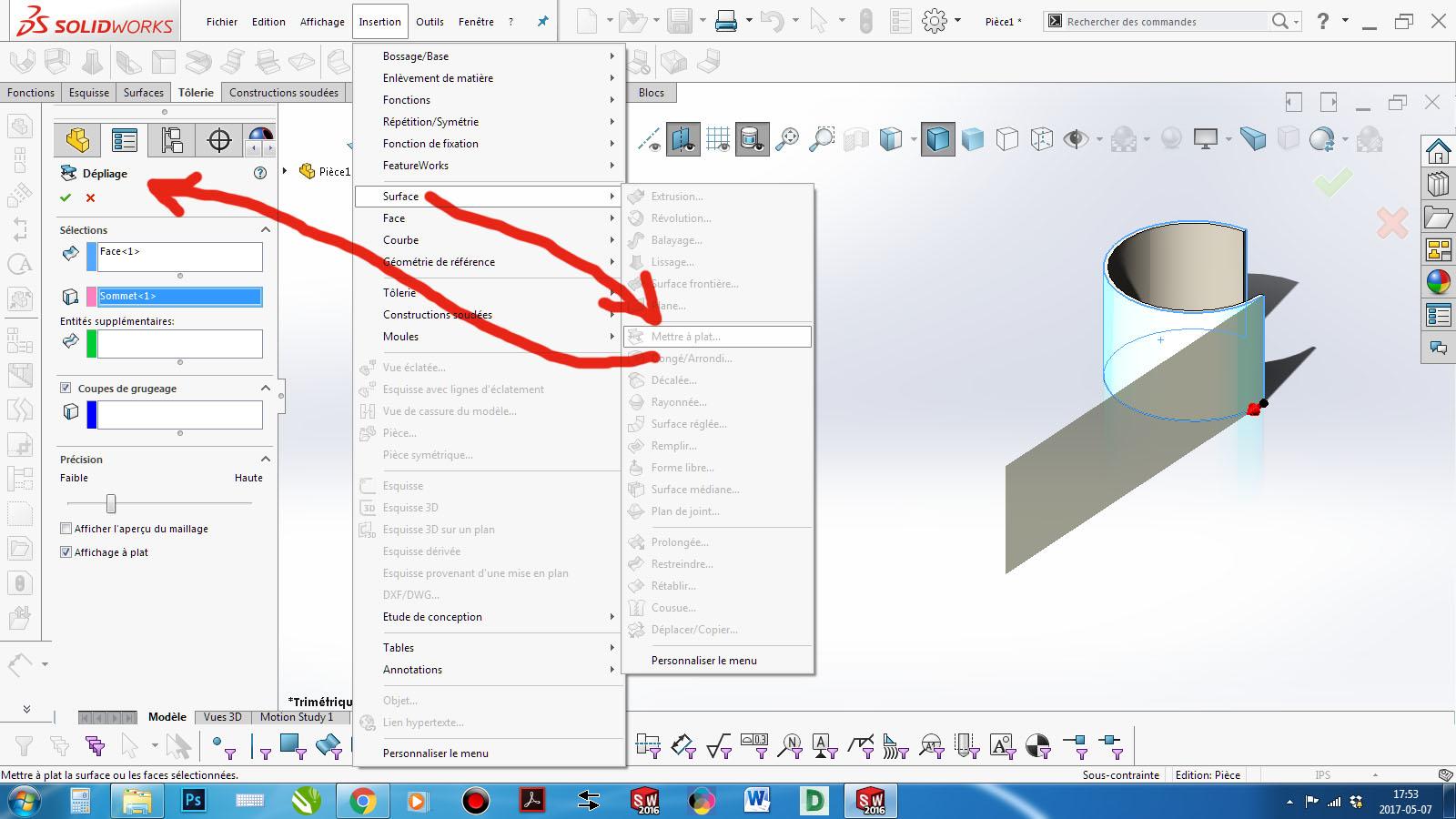 How Do I Bend A Clip Inside A Cylinder Tube Sheet Metal