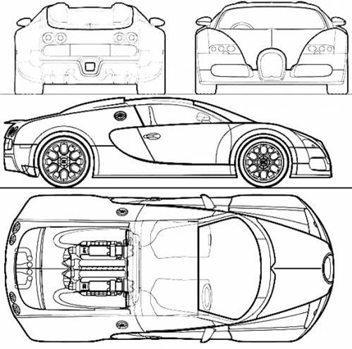 Getting started with a car design in solidworks grabcad tutorials here is a sample blueprints downloaded from a free source over the internet which is the blueprints malvernweather Images