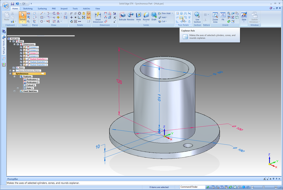 graphic & 3D modelling now!: How to drive a Solid Edge model