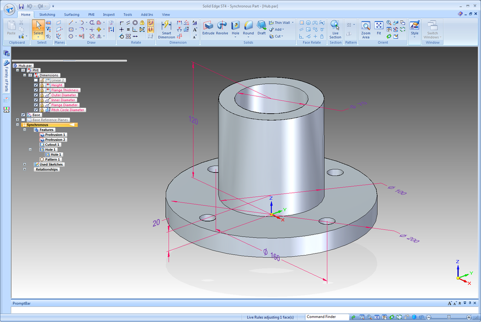 Graphic Amp 3d Modelling Now How To Drive A Solid Edge