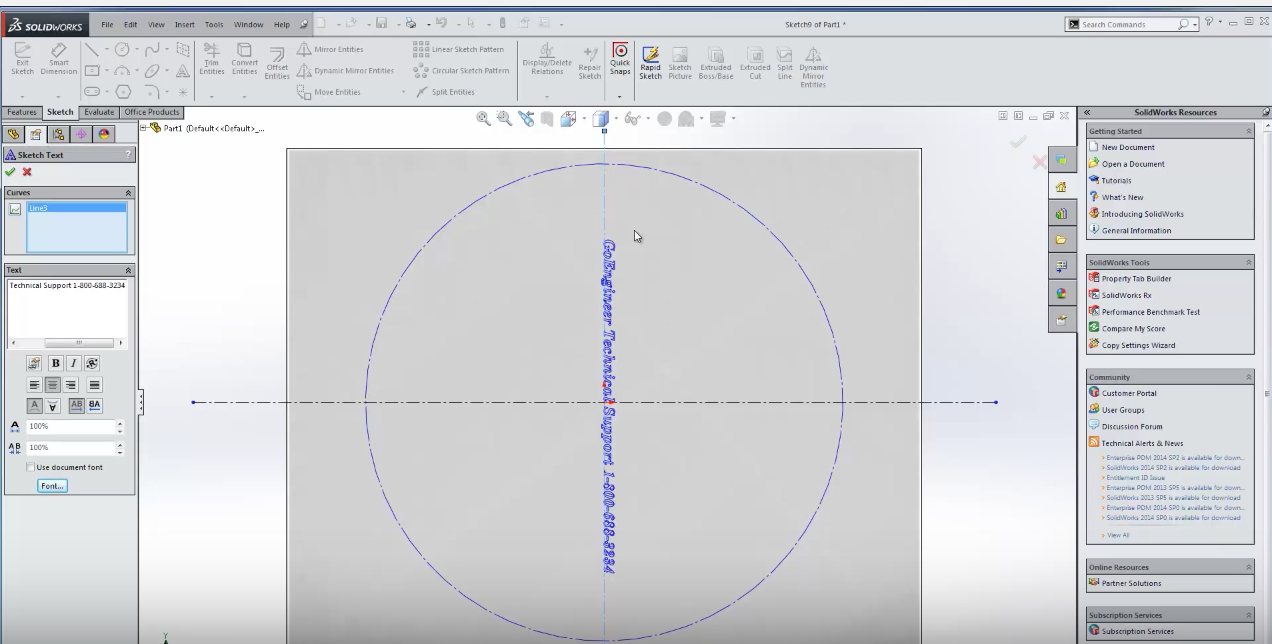 Using Text in SOLIDWORKS | GrabCAD Tutorials