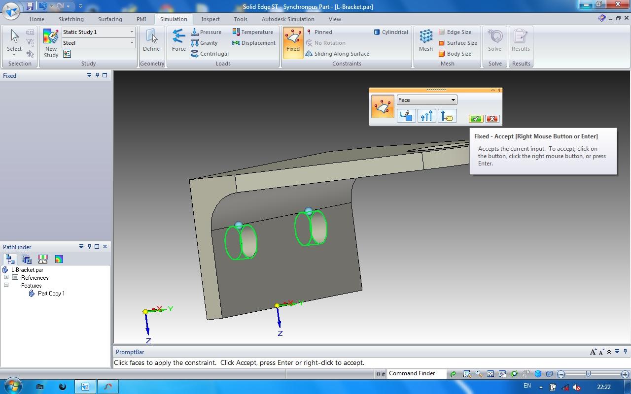 Solid Edge Tutorial for Beginners - Simple Simulation | GrabCAD