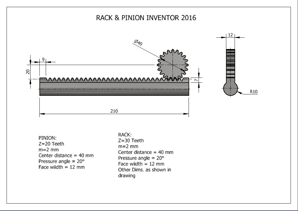 How to create Rack & Pinion using Inventor 2016 | GrabCAD