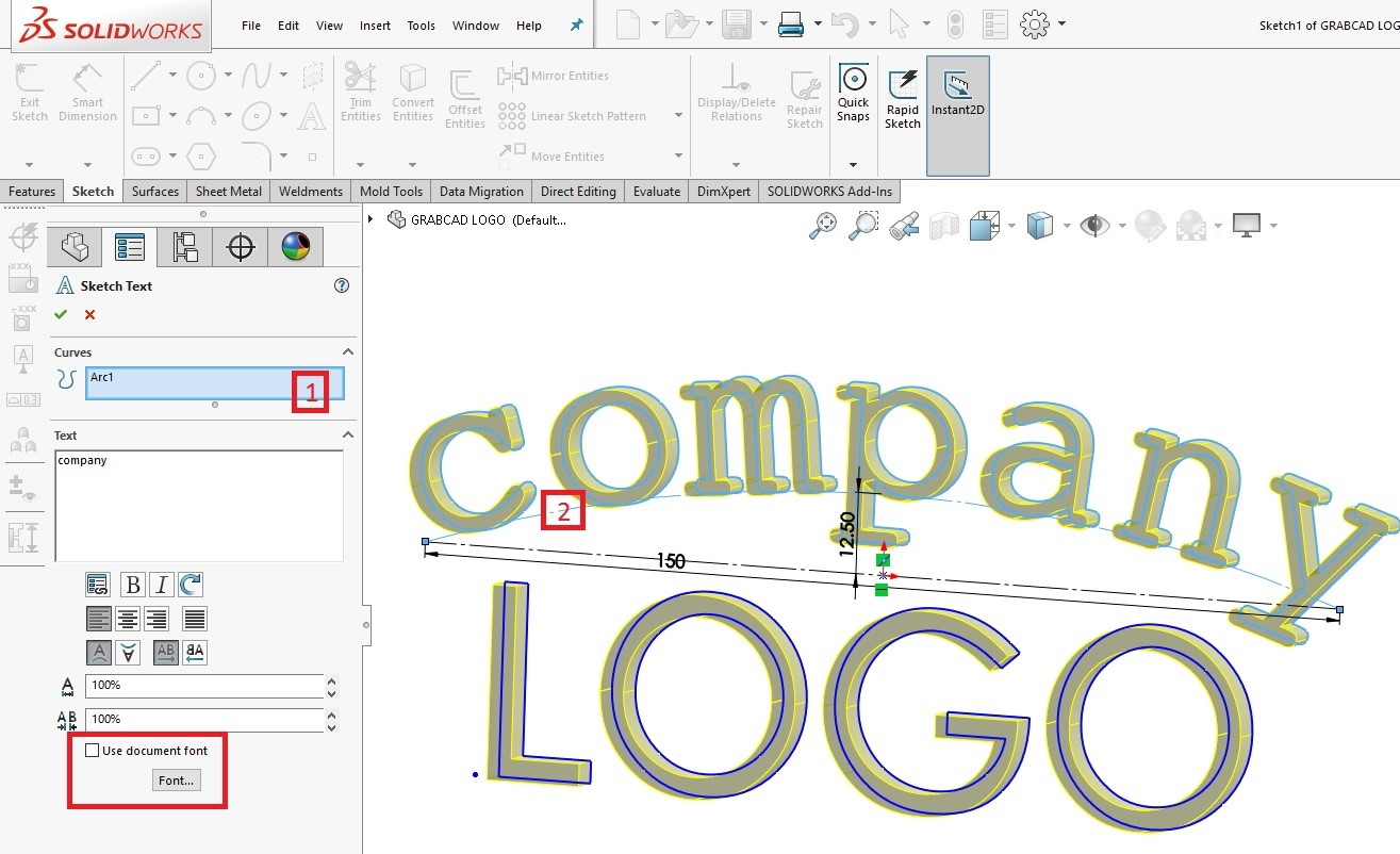 Add Your Own Custom Logo To A Drafting Sheet In Solidworks Grabcad