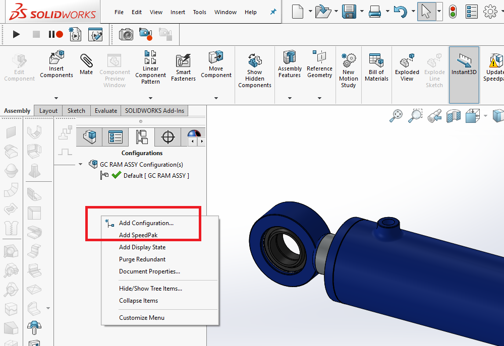 How to Create & Enable SOLIDWORKS Configurations   GrabCAD