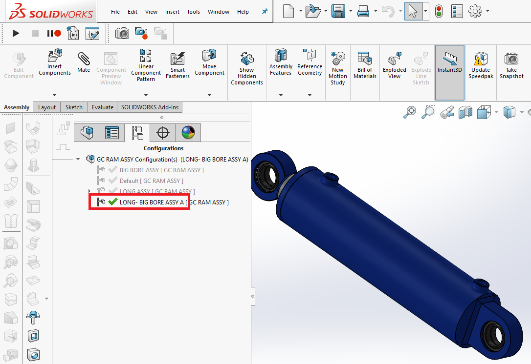 How to Create & Enable SOLIDWORKS Configurations | GrabCAD
