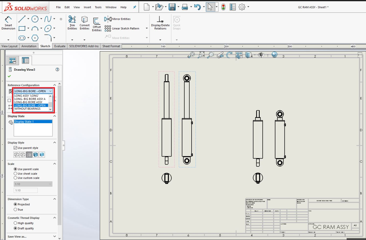 Using Solidworks Configurations In Parts And At Assembly Level Is The Basic Configuration Put Switch A If You Have Only 1 Will Be Able To Access Your Technical Drawings Making It Easy Compare Positioning Through