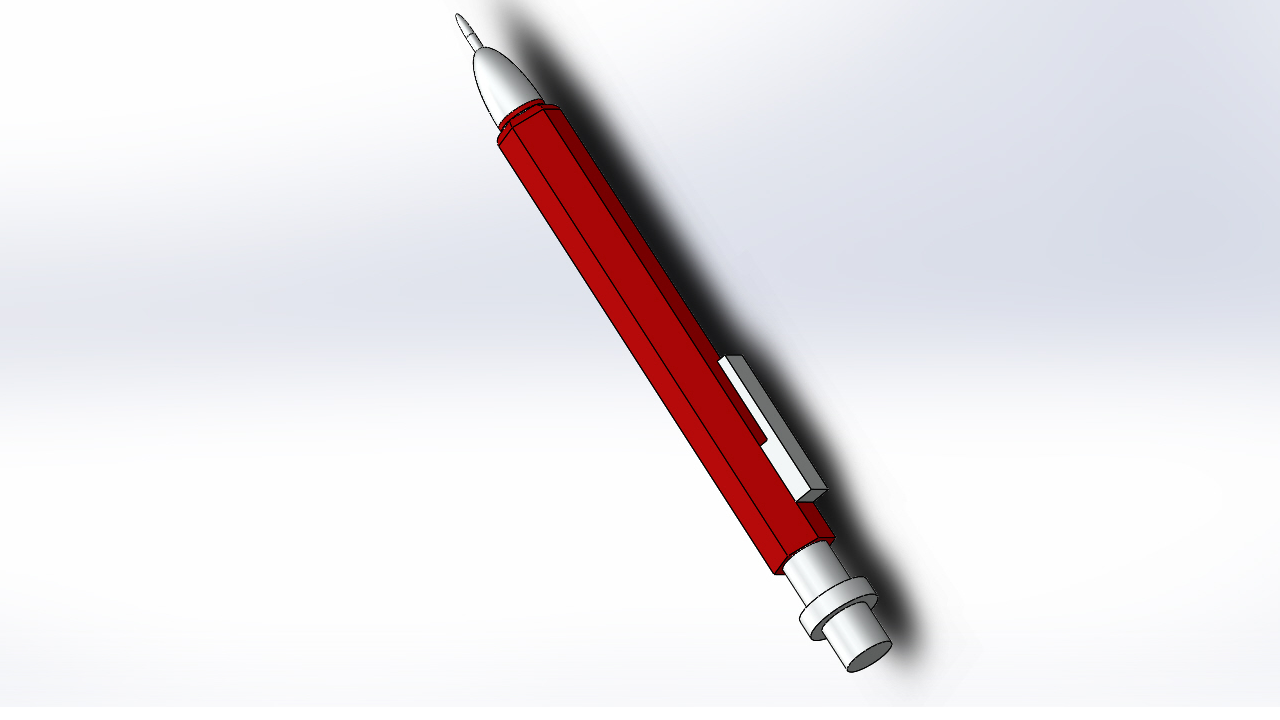 Solidworks 2017 Tutorial Design A Mechanical Pen In 8 Simple Steps Dome Boss Base Extrude Offset Grabcad Tutorials