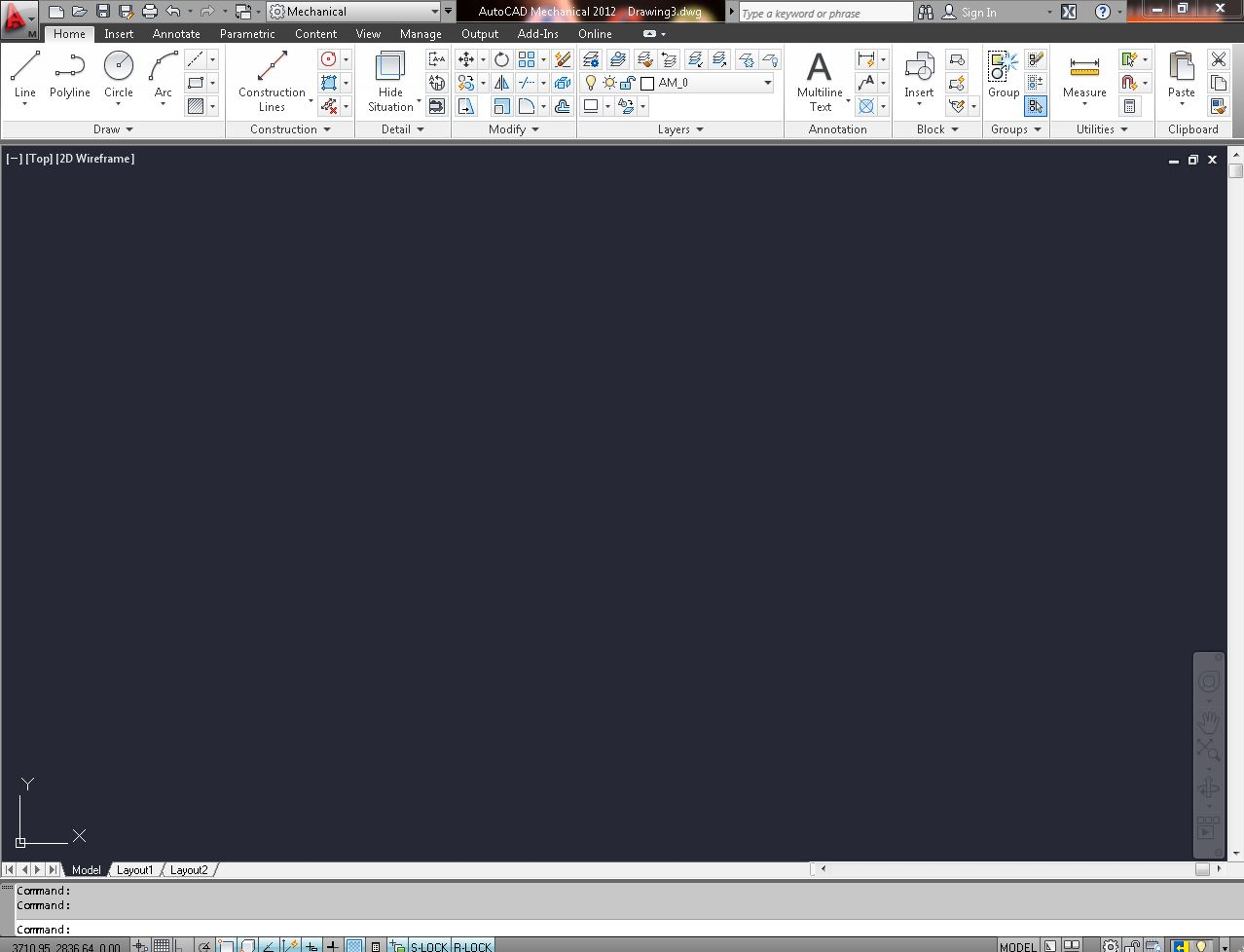 Drawing Smooth Lines In Autocad : Features of autocad mechanical grabcad tutorials