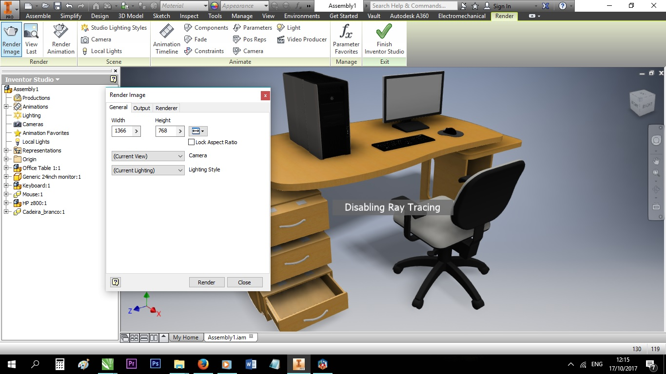 Ray Tracing Rendering In Autodesk Inventor 2016   GrabCAD Questions