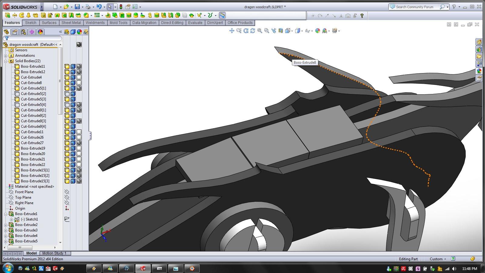 Tutorial How To Design Woodcraft Model Example Dragon Grabcad