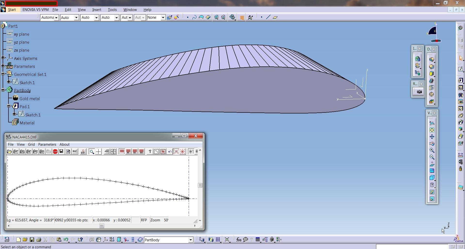 Catia Aerospace Naca Airfoil Or Aircraft Wing Create