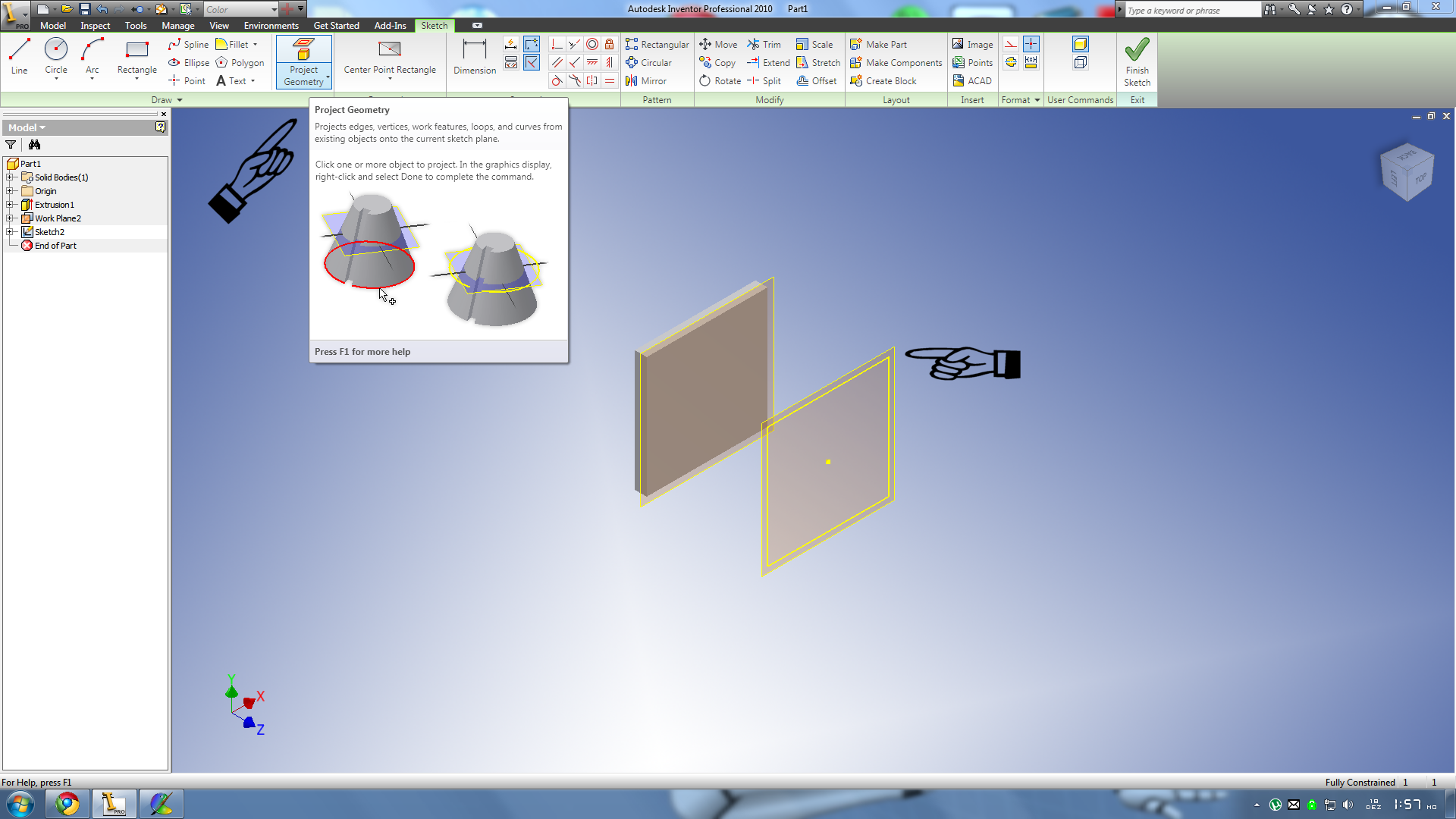 How to offset in Autodesk inventor | GrabCAD Questions
