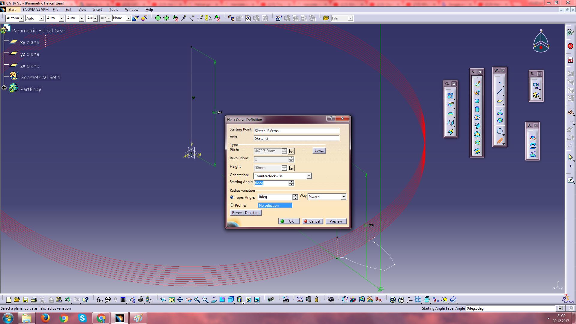 Parametric Helical Gear   GrabCAD Tutorials