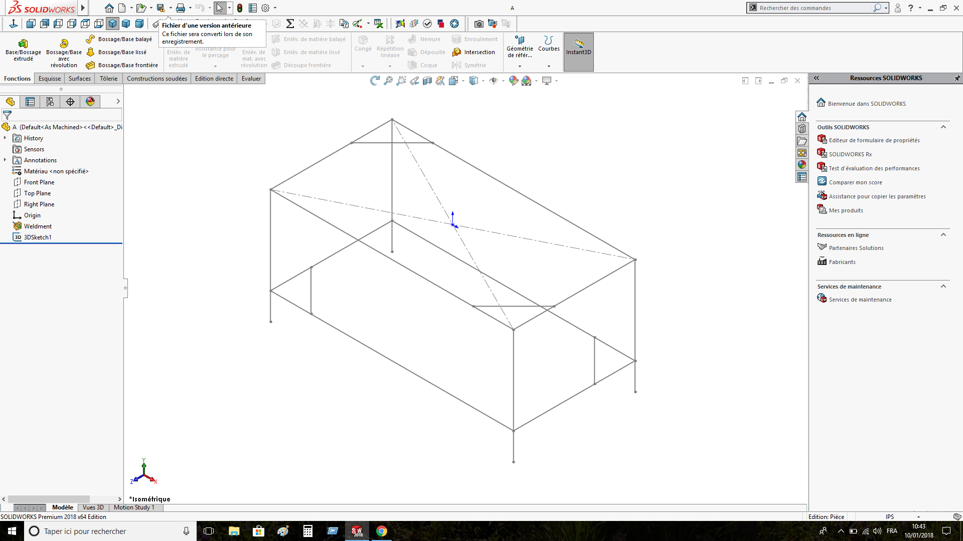 How to save sketches in solidworks for old version users