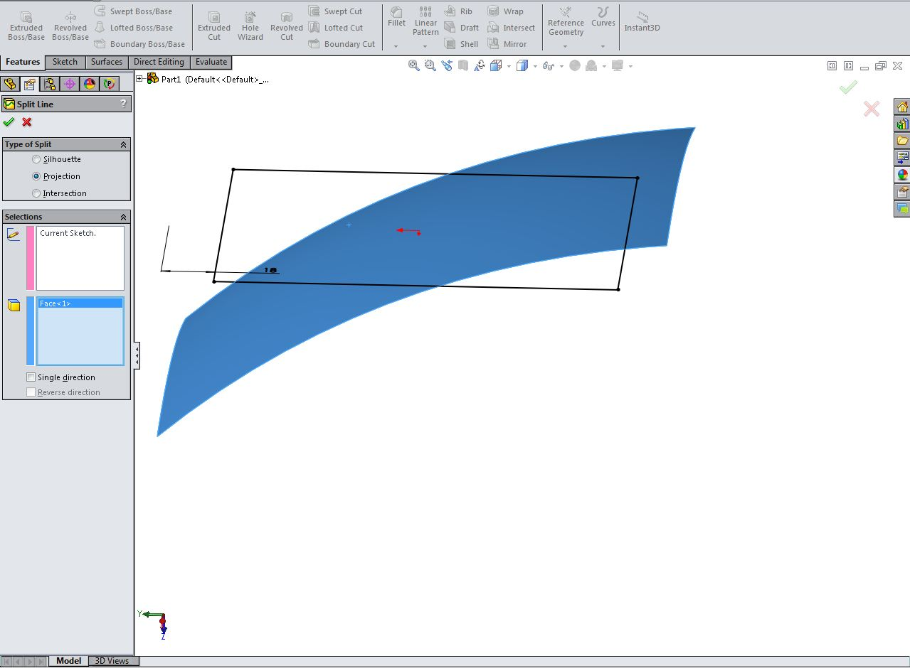 split line offset surface and thicken in solidworks grabcad