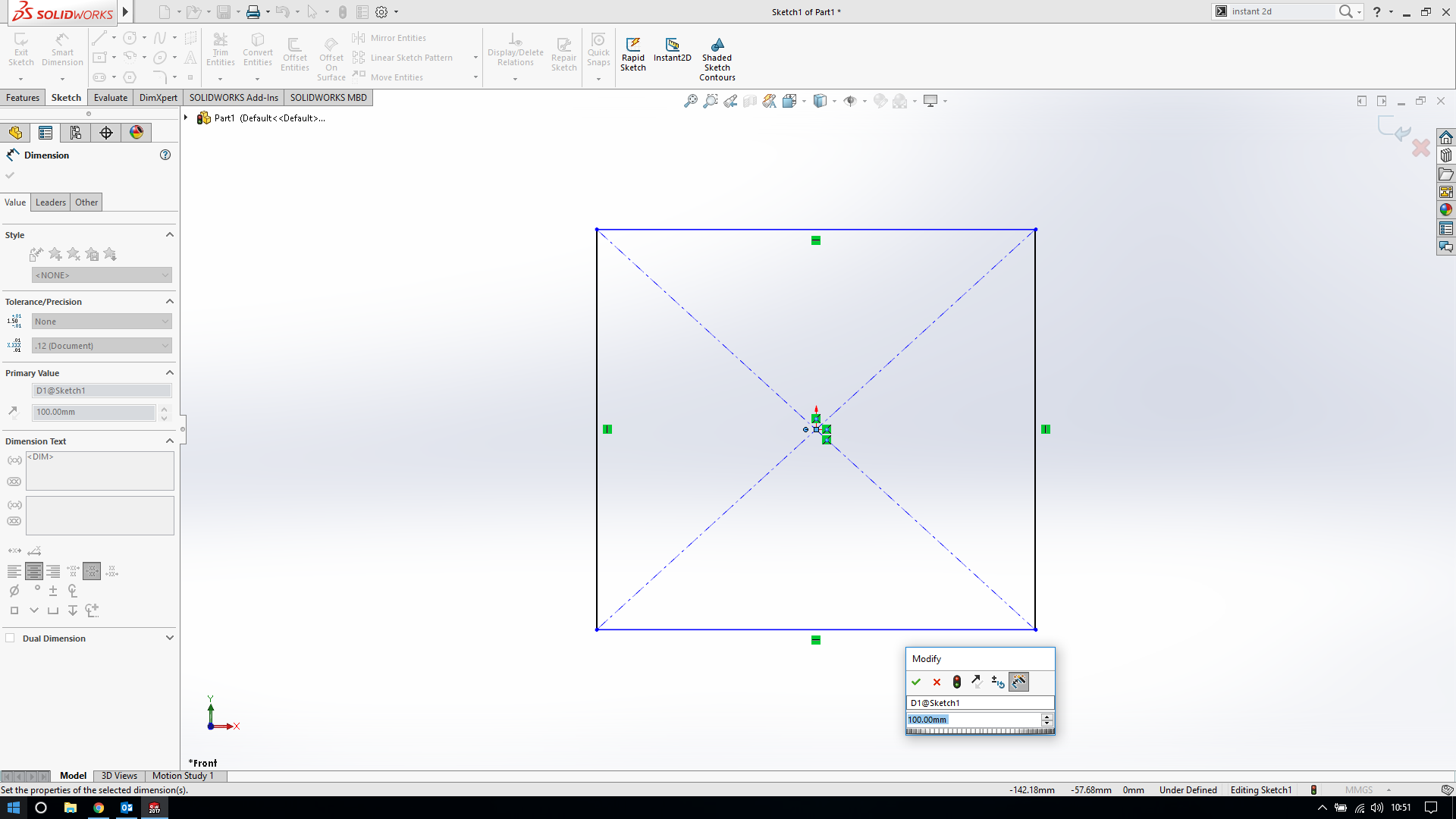 Missing sketch dimensions in Solidworks | GrabCAD Questions