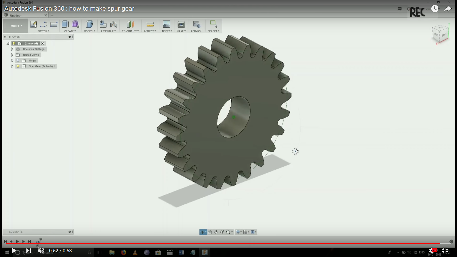 HOW TO MAKE GEAR IN FUSION 360 WITH GEAR CALCULATION