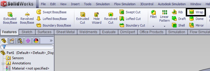 How to write a text on curved surface, solidworks 2012