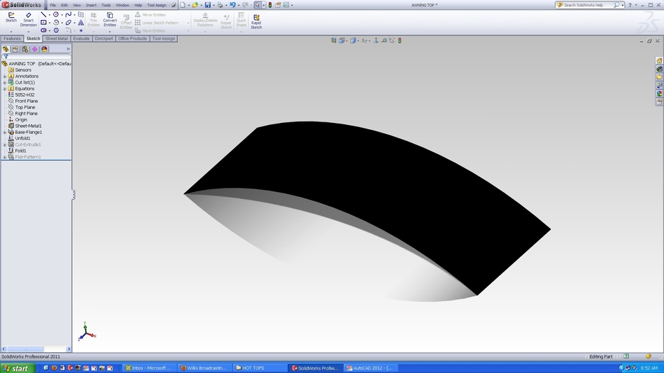 How can I put a hem bend along the edge of a curved surface? - GrabCAD