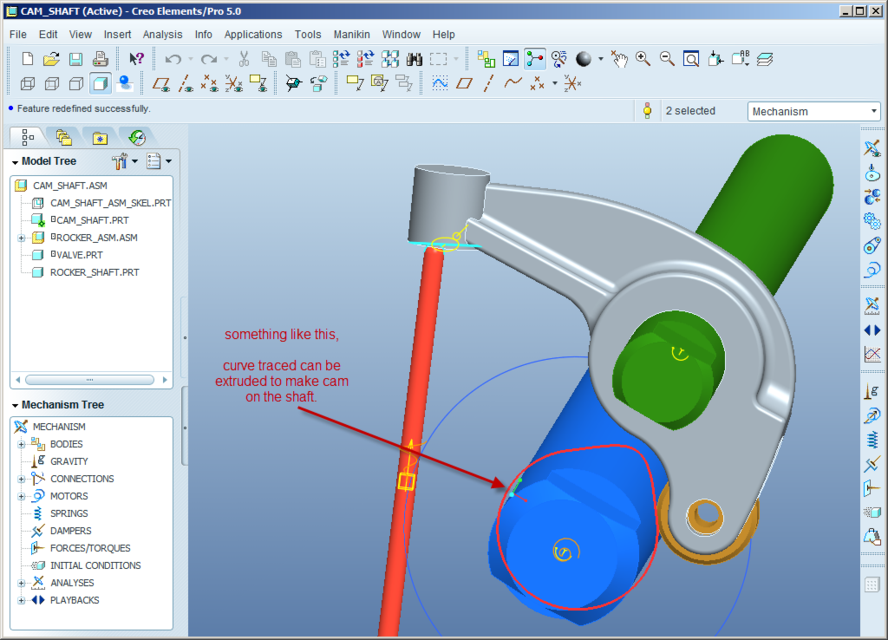 cam profile Does anyone know how to model a cam profile using given data's as polarcoordinates of roller follower centre, roller radius, minimum radius of cam in nx.
