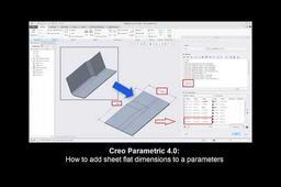 Creo Sheetmetal tutorial: How to add sheet flat dimensions