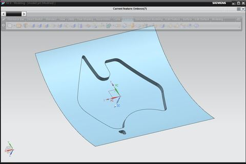 How To Use Emboss Command In Nx Grabcad