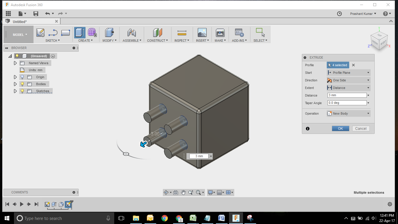 Dice Modelling using Fusion 360    GrabCAD Tutorials