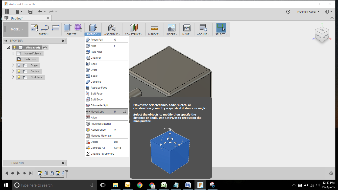 Dice Modelling using Fusion 360  | GrabCAD Tutorials