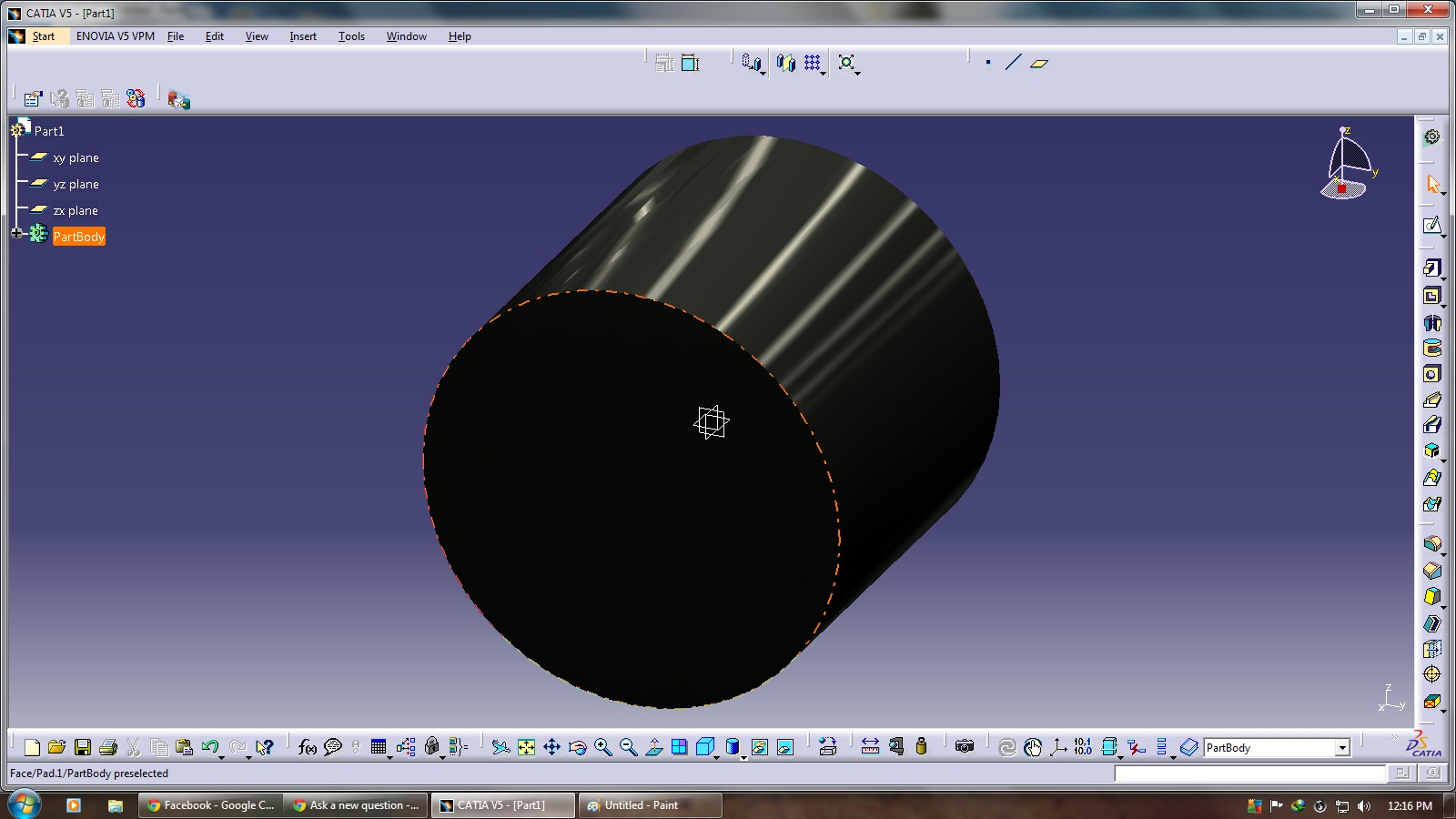 Why are the parts in catia v5 18 appearing in black