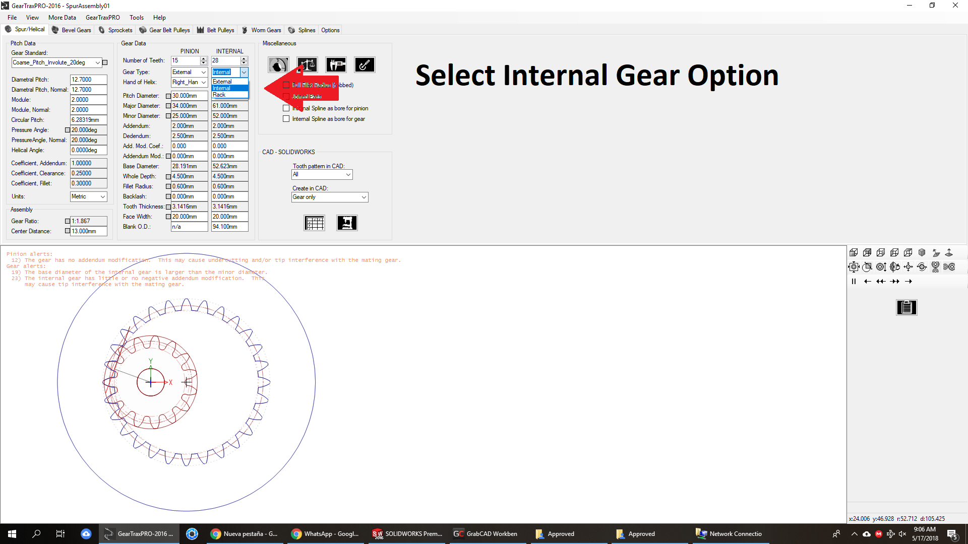 DESIGN OF GEARS USING GEARTRAX FOR SOLIDWORKS | SOLIDWORKS