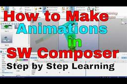 How to make Animations in SolidWorks Composer Tutorial STEP