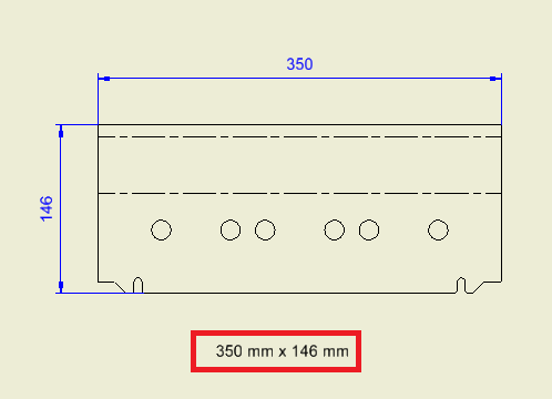 extents flat pattern to drawing for autodesk inventor
