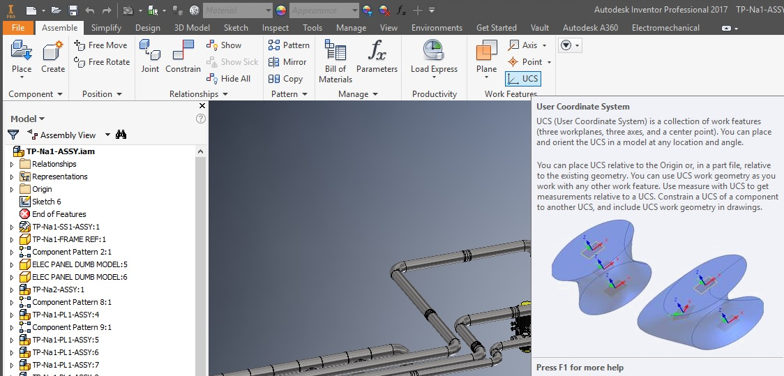 Autodesk Inventor Coordinate System reset or change