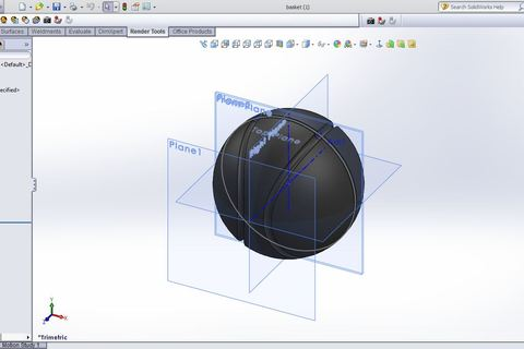 how to fill an open shelled object solidworks