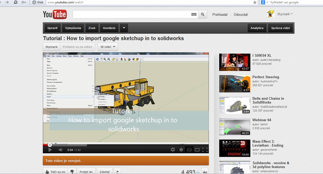 How to import sketchup files to solidworks grabcad for Sketchup import stl