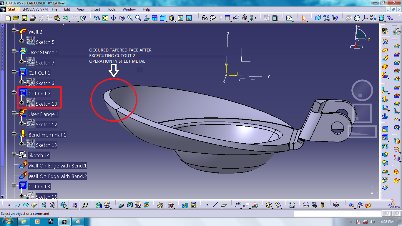 NEED TO TROUBLESHOOT AN ISSUE IN SHEET METAL MODEL CATIA V5 ...
