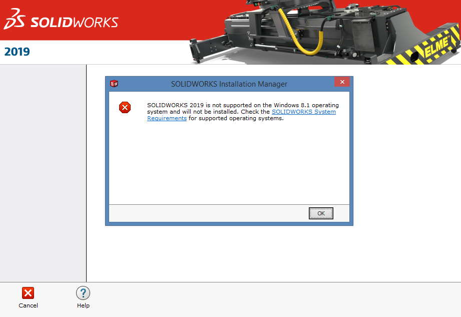 how can we install solidworks 2019 on windows 8 1