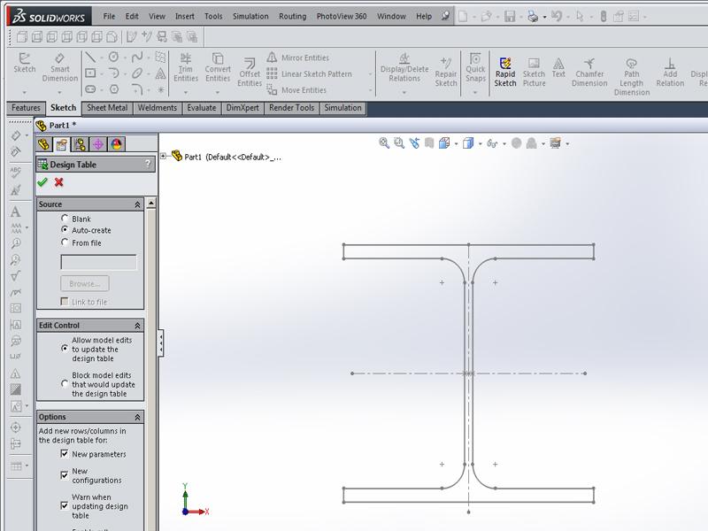 Profile with design table | GrabCAD Tutorials