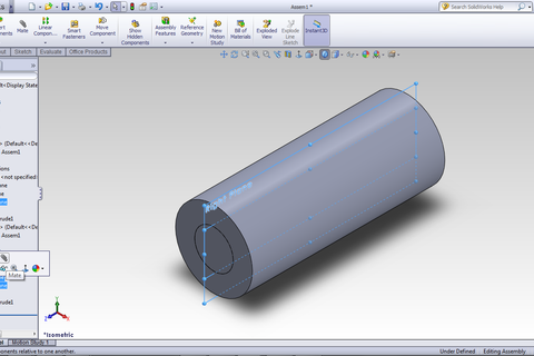 how to make a rib for an assembly in solidworks