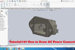 Tutorial#07 How to Draw AC Power Connector | GrabCAD Tutorials
